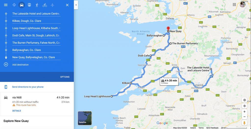 rough road trip map idea