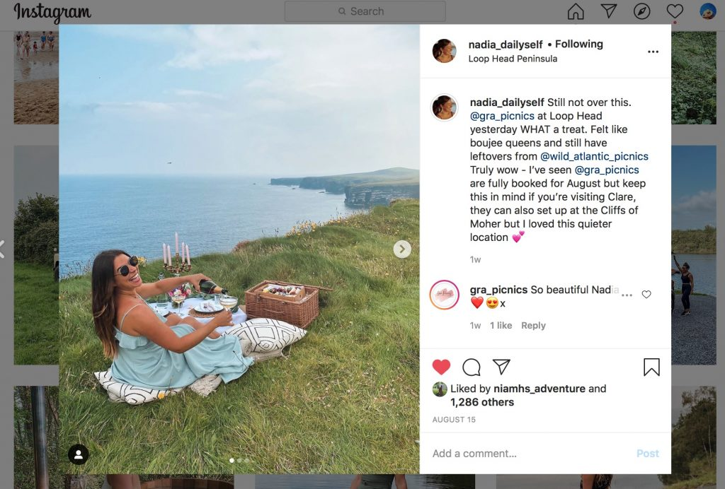 Grá Picnics on Instagram